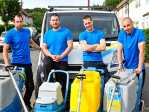 Fine carpet cleaning team