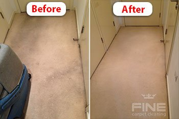 Carpet cleaning compare before and after