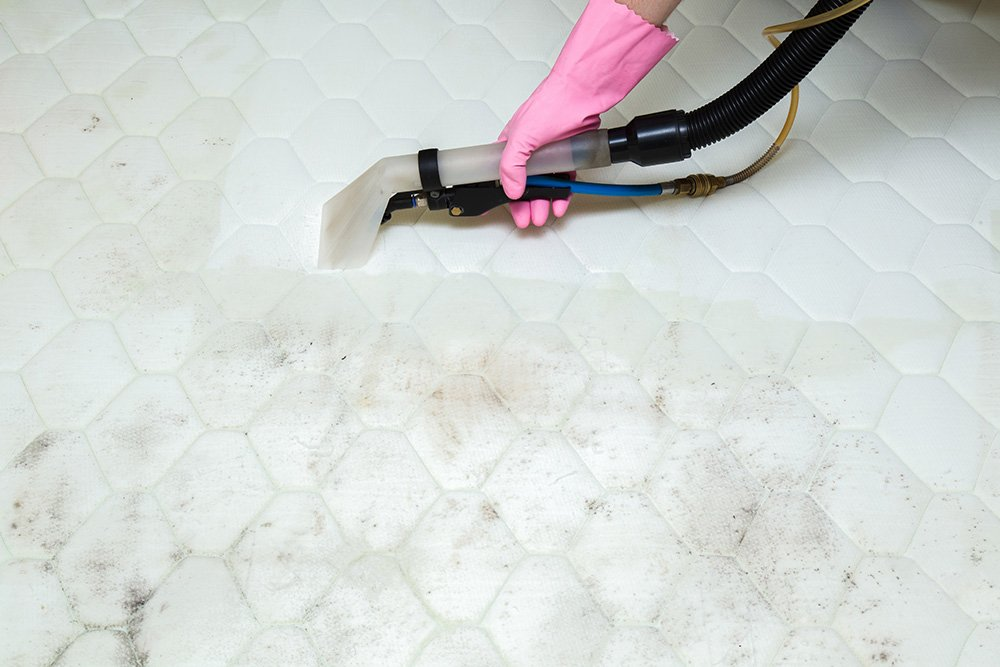 mattress cleaning compare before and after image