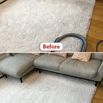 rug cleaning compare before and after image