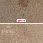 stain removal compare before and after image