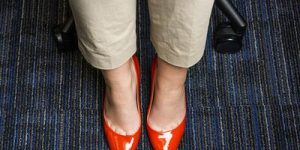 Office carpet cleaning servies 2 - red shoes